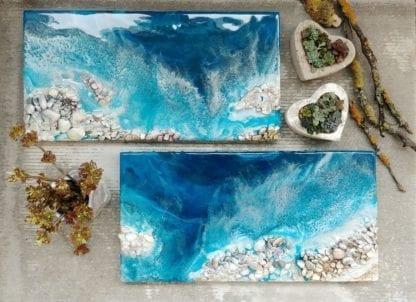resin art галька