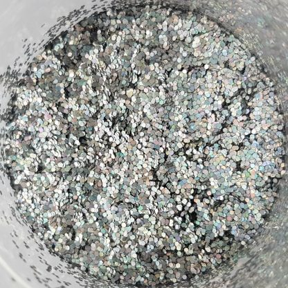 глиттер серебрянный