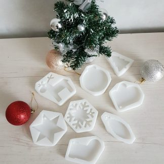 силиконовый молд новогодние игрушки
