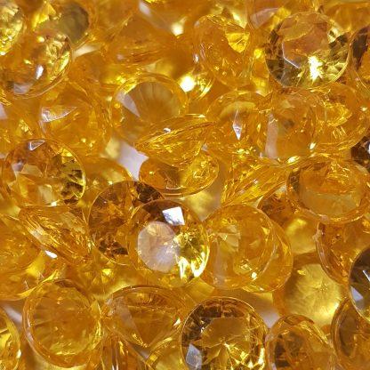 акриловые кристаллы желтые