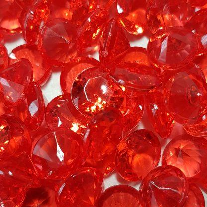 акриловые кристаллы красные