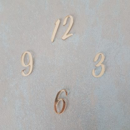 цифры из оргстекла для часов